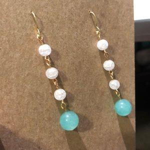 Handmade semi-precious stone drop earrings